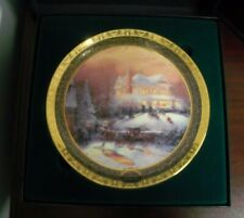 2001 Thomas Kinkade Victorian Christmas Ii Nib Collectors Collectable Plate Coa