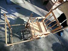 Chaise haute en bois, vintage, pour bébé