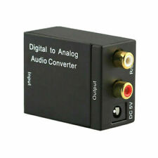3.5MM Optical Coax Coaxial Toslink to Analog RCA L/R Audio Convert