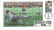 COLLINS  HAND PAINTED FDC 1994  WORLD CUP USA '94, KICKING  Sc # 2834