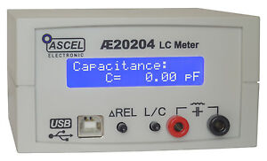 AE20204 LC-Messgerät Komplett-Bausatz mit RS232/USB, Gehäuse RCL RLC LCR CRL CLR