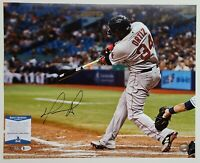 David Ortiz Big Papi Signed 16x20 Photo Autographed BAS Witnessed COA Red Sox
