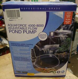 Aquascape Pro AquaForce 4000-8000 Adjustable Flow Pond & Waterfall Pump open box