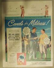 Camel Cigarette Ad: Golf Stars Lew Worsham & Gene Sarazen Size: Tabloid Page