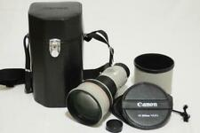 Top Mint Canon FD 300mm F2.8 L w/ Hood Leather Box from Japan