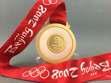 2008 BeiJing Olympic Gold Medal 1:1 With Ribbons & Stand