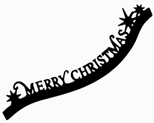 Curvy Christmas Greeting - Metal Cutting Die - AUSTRALIAN STOCK