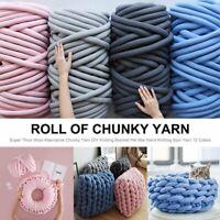 DIY Chunky Wool Yarn Super Thick Soft Bulky Arm Knitting Wool Roving Crocheting