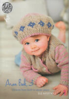 King Cole Aran Book 3 Baby & Child Knitting Pattern Booklet Birth to 7 Years