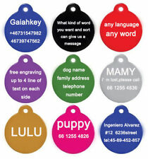 Personalized Engraving Pet ID Dog Tags Identification Custom Name Address Phone