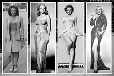 """MARILYN MONROE """"WHAT A LIFE"""" POSTER PRINT SETS OF 4 IMAGES 24""""X36"""" NEW"""