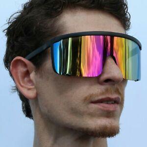 80's Glasses Mirrored Full Face Sunglasses