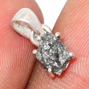 Natural Diamond Rough 925 Sterling Silver Pendant Jewelry BP76425