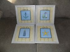 Home Interiors Roma Downey Nautical 4 Little Ships. Set Of 4 Pictures