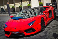Red Lamborghini Aventador- Car Poster - Car Print - Exotic Car Photo - Wall Art