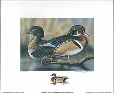 CALIFORNIA #24 1994 STATE DUCK PRINT Richard Clifton, Color Remarque #75/200