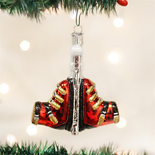 OLD WORLD CHRISTMAS SKI BOOTS GLASS CHRISTMAS ORNAMENT 44068