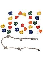 25 Rock Climbing Holds for Kids , Wall Grips W/ Rope and mounting hardware