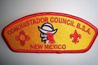 OA CONQUISTADOR COUNCIL SHOULDER PATCH CSP SCOUT NEW MEXICO SERVICE FLAP SMOOTH