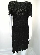 Vintage Laurence Kazar New York Beaded Sequin Formal Cocktail Dress~Size L