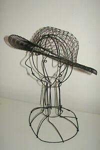 Vintage Wire Work Cheeky Mannequin Head Hat Stand Store Display