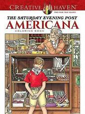 Creative Haven The Saturday Evening Post Americana Coloring Book by Marty...