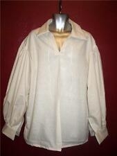 Jack Sparrow Renaissance Peasant Pirate Poet Costume Shirt Medium