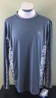Gillz Long Sleeve Waterman Outdoor Shirt Grey Size Large NWT