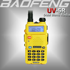 Baofeng Uv-5R Yellow 136-174/400-520Mhz Vhf/Uhf Walkie Talkie Dual Band Fm Radio