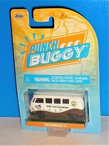 Majorette JADA Punch Buggy Slug Bug Volkswagen T1 Bus White Brown Scoop Dee Doo