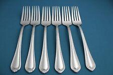 "New listing 6 Salad Forks Mikasa Regent Bead 18/10 Stainless Vietnam New 7 1/2"""