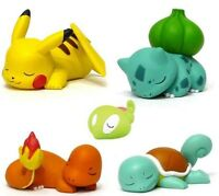 Pokemon Charmander Squirtle Bulbasaur Pikachu Action Figure Doll Toys Gift 5 PCS