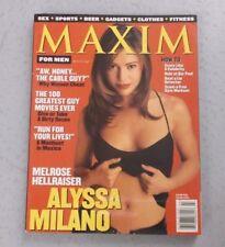 MAXIM MAGAZINE #6 MARCH 1998 ALYSSA MILANO CHARMED WHO'S THE BOSS NO LABEL