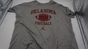 NIKE MENS OKLAHOMA SOONERS SHORT SLEEVE STRETCH FIT TEE GREY/RED SIZE XXL