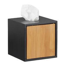 Kosmetiktücherbox schwarz, Kosmetiktuchbox quadratisch, Würfel Taschentuchbox