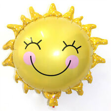 Cute Sun Flower Smiley Aluminum Foil Balloon Baby Shower Birthday Party Supply