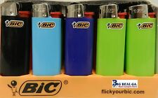 20  BIC LIGHTERS 10 Full Size +10 MINI - ASSORTED COLORS - WITH FLUID