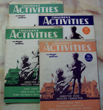 CHILDRENS ACTIVITIES MAGAZINE JAN MARCH JUNE 1944 1945