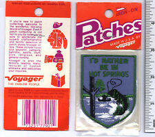I'd Rather Be In HOT SPRINGS Arkansas PATCH ! travel souvenir ! FISHING Vintage!