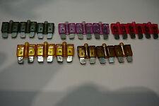 LED STANDARD BLADE CAR FUSES(2A/3A/4A/5A/7.5A)3 OF EACH-(15)GLOW BLOWS