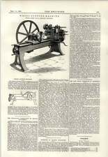 1891 Wheel Cutting Machine Lister Keighley Engraving