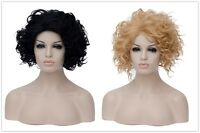 Short kinky Curly Wig Cosplay New Women's short bob curly Wig Lolita Fluffy Hair
