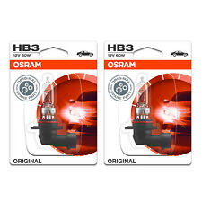 2x Opel Zafira B HB3 Genuine Osram Original High Main Beam Headlight Bulbs Pair