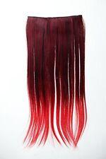 Extension capelli Clip-In 5 clip liscio bicolore Ombreggiato Rot 60cm lang