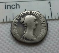 Authentic  Ancient ROMAN COIN SILVER denarius  FAUSTINA II  c.161-175AD  #274