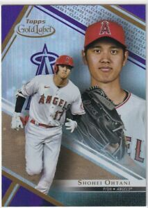 2021 TOPPS GOLD LABEL PURPLE PARALLEL CLASS 1 #7 ANGELS - SHOHEI OHTANI 91/99