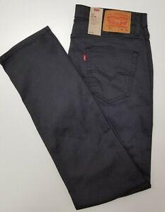 Herren-Jeans Levi´s 511 SLIM FIT STRETCH - in grau (Grey-Black3D) mit Sitzfalten