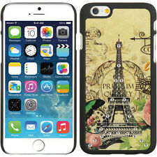 "iPHONE 6 6s 4.7"" 4.7 inch RUBBER CASE SPOTS DIAMOND BEG PARIS AMOUR BA"