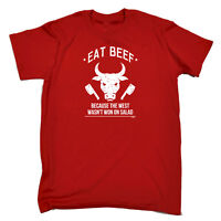 Funny Novelty T-Shirt Mens tee TShirt - Eat Beef Because The West Wasnt Won On S