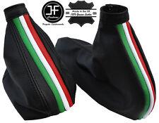 BLACK STITCH ITALY STRIPES LEATHER GAITER SET FOR ALFA ROMEO GTV SPIDER 98-05
